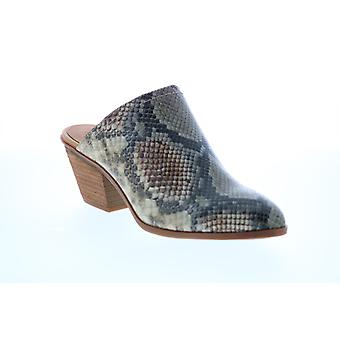 Frye & Co. Jacy Mule  Womens Gray Leather Mules Heels Shoes