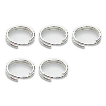 5 X 8mm Split Ringen Sterling Zilver .925 Charm Sleutelhangers Ringen - 6018