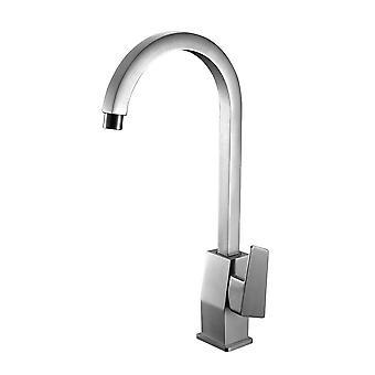 Alfi Brand Ab3470-Bn Brushed Nickel Gooseneck Single Hole Bathroom Faucet