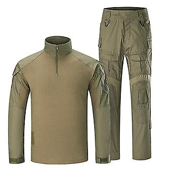 Man Military Tactical Uniforms Army Combat Suit Naamiointi Pitkähihaiset T-paidat