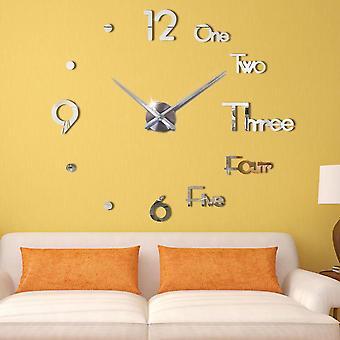 New 3d Diy Large Wall Clock Modern Design Wall Sticker