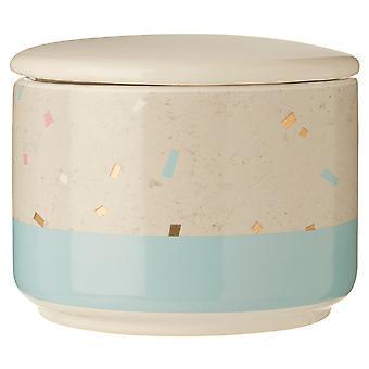 Small Glitter Terrazzo Canister, Blue
