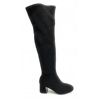 Women's Shoes Gold&gold Boot Tc 55 In Ecopelle Stretch Suede Black Color - D20gg40