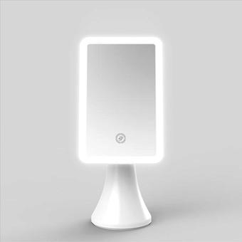 أدى ماكياج مرآة تعمل باللمس مرآة الشاشة مع ضوء ضوء مكتب قابل للتعديل mirrors مرنة أدوات تجميل المستطيل
