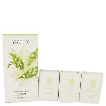 Liljekonvalj Yardley 3 x 3,5 oz tvål av Yardley London 3.5 oz 3 x 3,5 oz tvål
