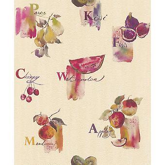 Fruit Motif Rasch Wallpaper