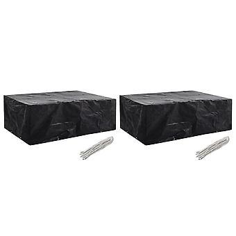 vidaXL garden furniture covers 2 pcs. 8 eyelets 242x162x100 cm