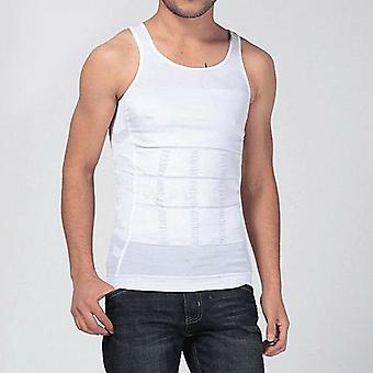 الرجال سليم الجسم البطن البطن الدهنية سترة تي قميص مشد الشكل ارتداء الملابس الداخلية