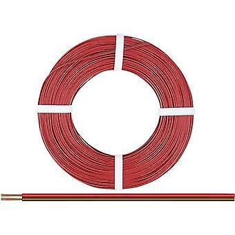218-08-25 Strand 2 x 0,14 mm² Röd, Brun 25 m