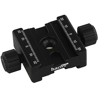 DZK CP-50BII 50mm Subtend Double Dual Quick Release Clamp for Arca Swiss RRS Benro Dovetail Rail