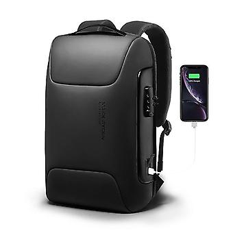 Modern design anti theft smart waterproof backpack with double charging port