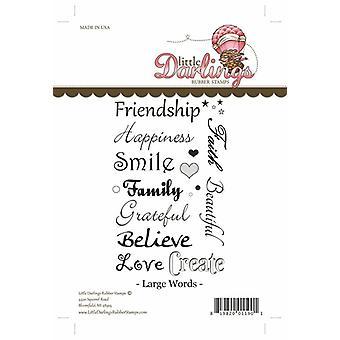 Little Darlings Stamp - Large Words
