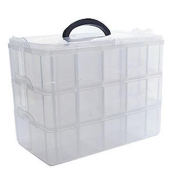 Three-layer Storage Box Transparent Storage Box For Tape Washi Sticker