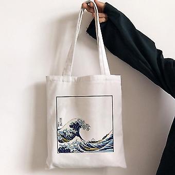 Large Capacity Canvas Bag, Female Shoulder Bag
