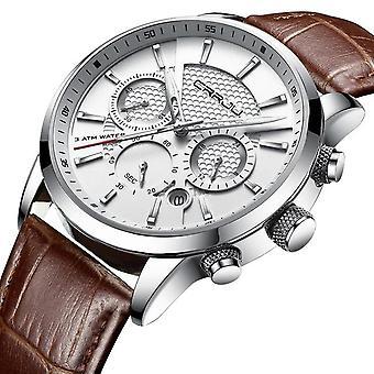 Luxury Waterproof Quartz Watches(brown)
