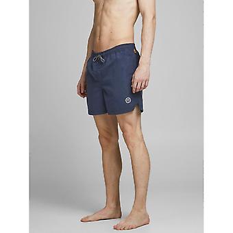 Jack & Jones Bali AKM Solid Swim Shorts - Navy Blazer