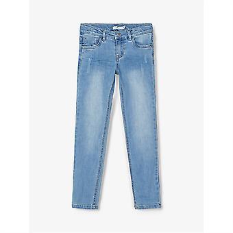 Nume It Kids Theo Denim Jeans Light Wash Pantaloni Pantaloni Bottoms