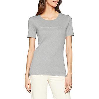 United Colors of Benetton 3GA2E16A2 T-shirt, Grey (Grey Melange 501), S Woman