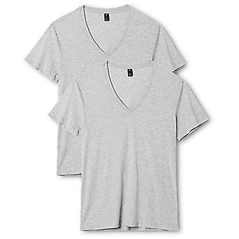 G-Star RAW Basic Heather V-Neck 2-Pack Kortärmad T-shirt, Grå (Grå Htr 906), XX-Small (Pack of 2) Men