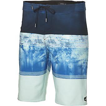 ONeill Hyperfreak Pantalones cortos de longitud media en Aop azul