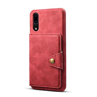 Wallet leather case card slot for iphone7plus/8plus red on527