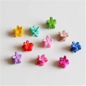 10pcs Baby Mode kleine Haar Kralle süße Candy Farbe Blume Kiefer Clip