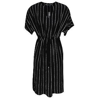 Oui Short Sleeve Pin Stripe Tie Waist Dress