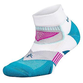 Balega Enduro Low Cut Running Socks, White/Lake Blue