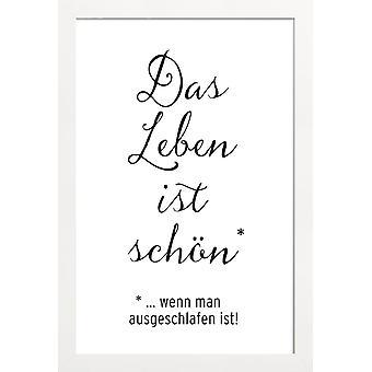 JUNIQE Print - Livet er smukt - Citater & Slogans Plakat i sort / hvid