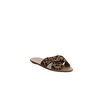 Loeffler Randall | Claudie Leopard-Print Calf Hair Slide Sandals