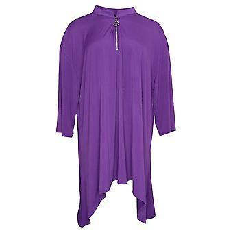 Antthony Women's Plus Top 3/4 Sleeve Knit Popover Purple 716480