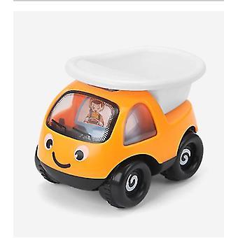 2Pcs البرتقال الفتيان والفتيات مصغرة سيارة هندسة الرسوم المتحركة القصور الذاتي سيارة، سيارة لطيف الأطفال نموذج الطائرة az7050