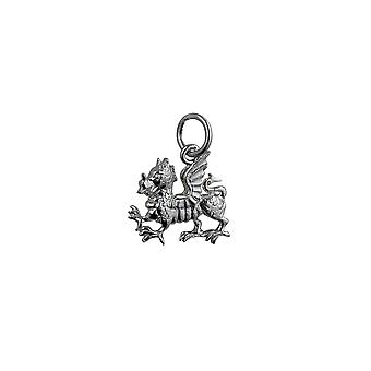 Silver 15x11mm Welsh Dragon Pendant or Charm