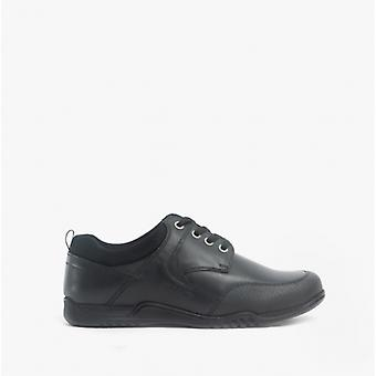 Hush Puppies Dexter Boys Leather School Shoes Black