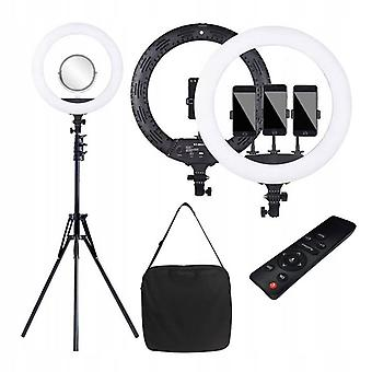Kruhová lampa 45 cm na nastaviteľnom statíve + diaľkové ovládanie – LED