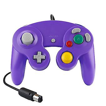 Wired Ngc Game Controller Gamepad Game Cube Controller Handheld Joystick For Nintendo(Purple)