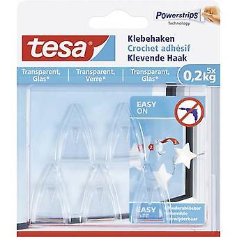 Tesa Tesa® liima koukku läpinäkyvä sisältö: 5 kpl/s