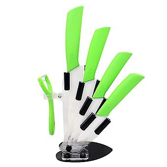 Top quality ceramic Zirconia kitchen knife set with holder Ceramic Knife 3 4 5 6 inch Peeler for