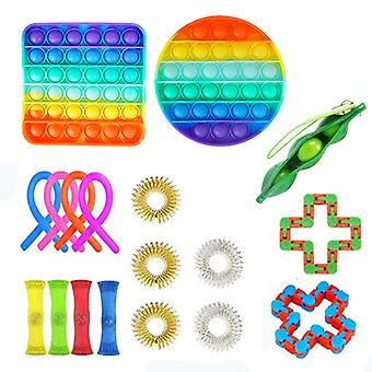 Lohill Push Pop It Fidget Toy Bubble Sensory Stress Relief Special Needs Autism Anxiety