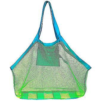 Vauvan lelu varastointi verkko laukku ranta lelut vaatteet pyyhe paketti iso string pussi kuori työkalusarja (vihreä verkko)