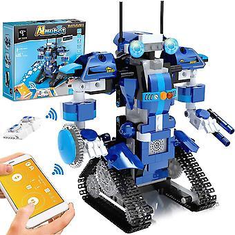 Roboter Kinder Bausteine Spielzeug Programmierbar Ferngesteuert App-Gesteuertes STEM Technik Roboter