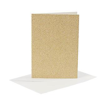 4 ouro glitter A6 cartões em branco e envelopes para fazer artesanato