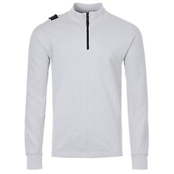 MA.Strum Double Face Pique Half Zip Sweatshirt - Aluminium