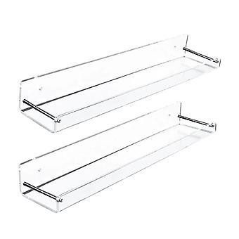 2PCS Trasparente Acrilico Galleggiante Librerie Display Stand Porta bagno & Rack
