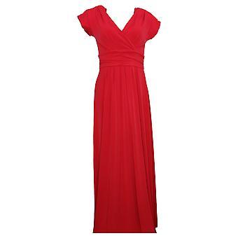 IMAN Dress Boho Chic Maxi With Head Wrap Red 692183