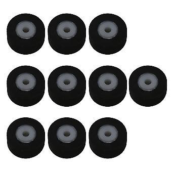مسجل أجزاء 10x عجلة بكرة حزام الضغط الصوتي لمسجل أسود 11.5x5x2mm