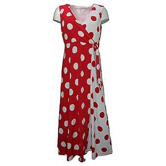 سوزان جرافر بيتيت فستان المطبوعة السائل متماسكة فو التفاف ماكسي الأحمر A374087