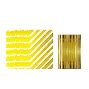 Klara cellofan matpåsar, 100st Golden Stripes Cellophane Bags med 100st Twist Ties För Familjens julfest KexBröd Godis Cupcake Packag