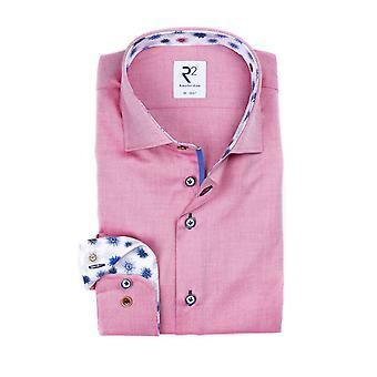 R2 Long Sleeve Widespread Collar Long Sleeve Shirt Pink
