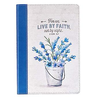 Live by Faith Thinline Lux-Leather Journal